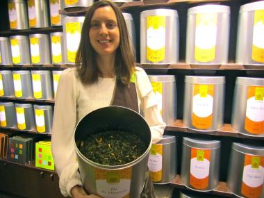The flagship store of the French tea boutique opened on Prince Street Wednesday, Jan. 16, 2013.
