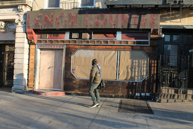 <p>The famous neon sign is down at the Lenox Lounge&#39;s original location at 288 Lenox Ave., between 124th and 125th streets.</p>