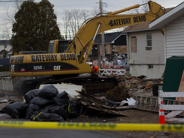 <p>Raymond Weiler, 52, who&#39;s mother&#39;s home on Liberty Avenue was one of the first to be demolished by the city after Sandy, said it was hard to watch the home he grew up in come down on Jan. 14, 2013.</p>