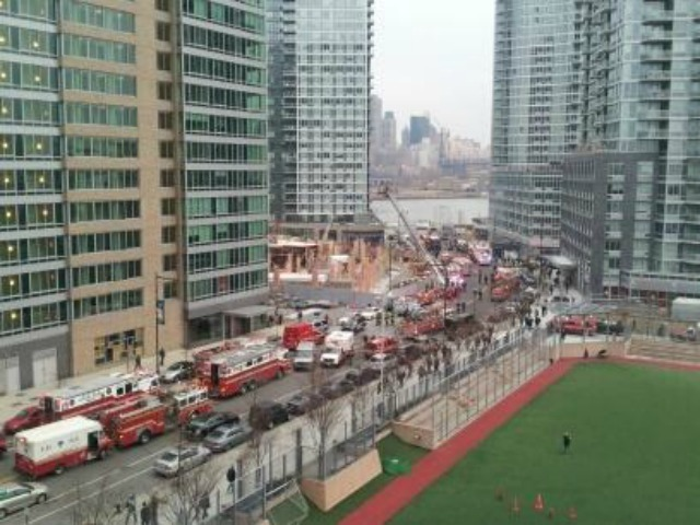 <p>A crane collapsed at a Long Island City construction site Jan. 9, 2013.</p>