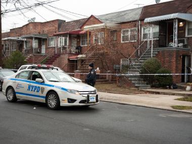 A 22-year-old man was shot to death at 579 East 86th Street in Brooklyn about 2 a.m. on Tuesday January 15th, 2013, three doors down from a day care center.