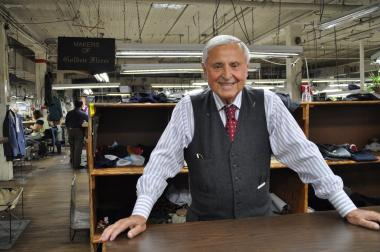 "Martin Greenfield's new product offers custom-made suits and ties in a Ghurka bag to ""save businessmen time."""