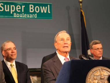 Mayor Bloomberg and NFL Commissioner Roger Goodell outlined plans Thursday leading up to the Super Bowl at MetLife Stadium next year.