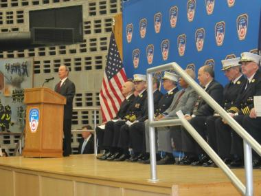 Mayor Bloomberg spoke at an FDNY promotions ceremony on Jan. 2, 2013.