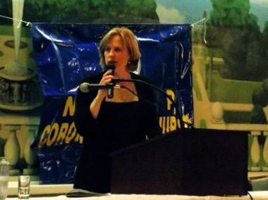 Melinda Katz speaking at the NAACP's Annual Freedom Fund Dinner Dance in Corona in December 2012.