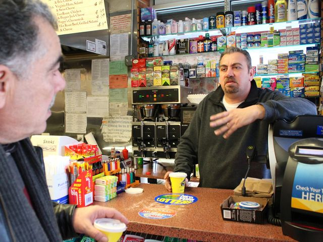 <p>Mike Ahal, a Palestinian immigrant who owns Poppy&#39;s Gourmet Corner on Avenue A and East 12th Street.</p>