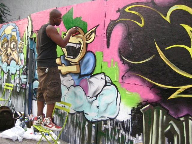 <p>Myrtle Avenue Brooklyn Partnership sponsored the Brooklyn Urban Arts Project.</p>