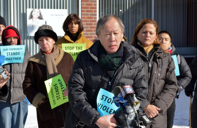 <p>Neighbors speak out after a rash of violent attacks plague East Harlem&#39;s Asian-American community, on Jan. 26, 2013.</p>