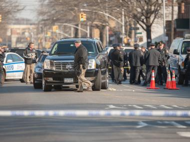 EAST FLATBUSH - A New York City Corrections Officer shot a man said to be a rival in a love triangle on Clarendon Road near Utica Avenue in Brooklyn at about 1:10PM. The victim was taken to Kings County Hospital in critical condition. An Investigation is underway.