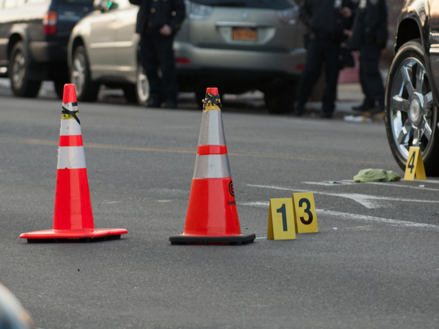 <p>Evidence at the scene of a shooting Jan. 8, 2013.</p>