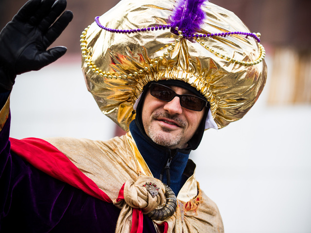 <p>One of the appointed Kings waves to the crowd at the 36th Annual Three Kings Day Parade in East Harlem on Jan. 4, 2012.</p>