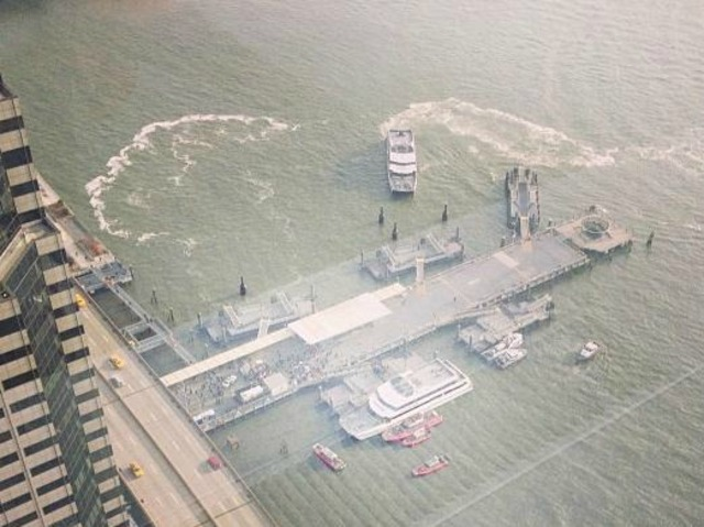 <p>Several people were injured when a Sea Streak ferry hit a dock early Wednesday January 9, 2013.</p>