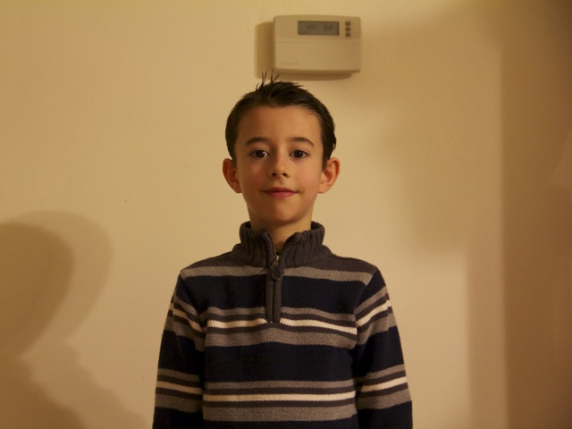 <p>Peter Whalen, 6, a third-grader at P.S. 50 in Oakwood, said that he&#39;s had headches and felt nausous since a PCB light ruptured over him in his classroom, Jan. 18, 2013</p>