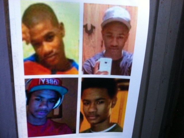 <p>Photos of Raphael Ward, 16, at a memorial shrine set up for him after his shooting death Jan. 4, 2013.</p>