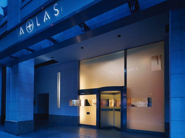 <p>The entrance to Atlas New York, where Project Runway contestants have lived since Season One.</p>