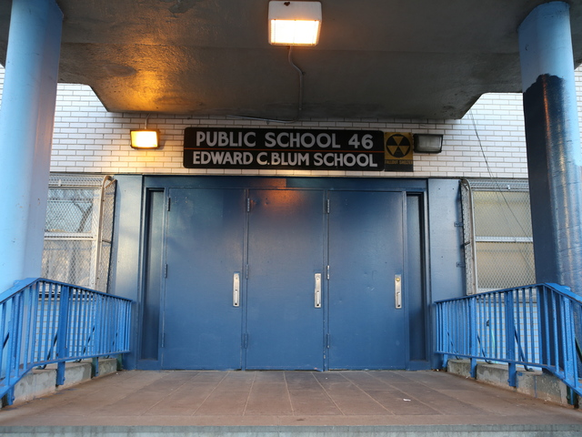 <p>P.S. 46 is on a residential street off of Myrtle Avenue in Fort Greene.</p>
