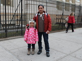 <p>Marley Andrews, 7, said she loves apples and was happy to participate in the city&#39;s Big Apple Crunch at P.S. 10.</p>