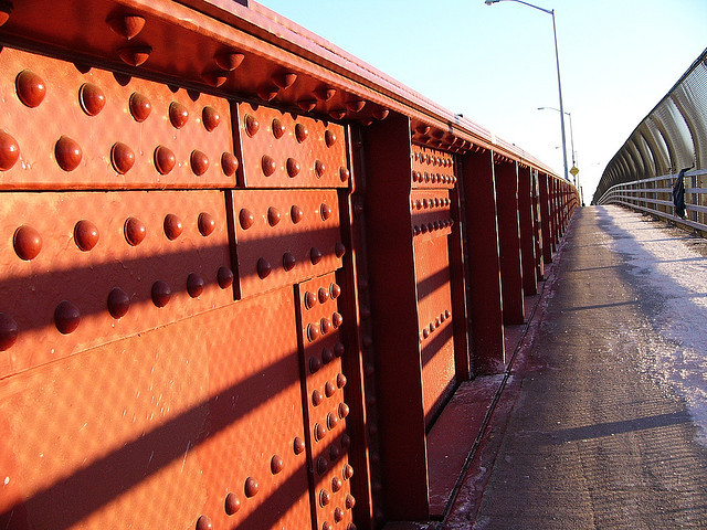 <p>The walkway along the Pulaski Bridge.</p>