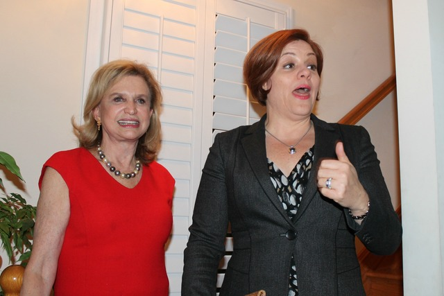 <p>City Council Speaker Christine Quinn was one of dozens of women who attended a women&#39;s &quot;power hour&quot; hosted by Rep. Carolyn Maloney at her Washington, D.C. home on Jan. 20, 2013.</p>