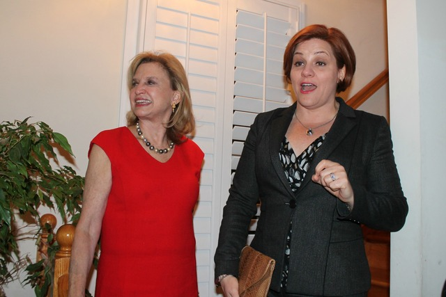 <p>City Council Speaker Christine Quinn addressed the crowd at a women&#39;s &quot;power hour&quot; hosted by Rep. Carolyn Maloney in honor of President Barack Obama&#39;s second inauguration.</p>