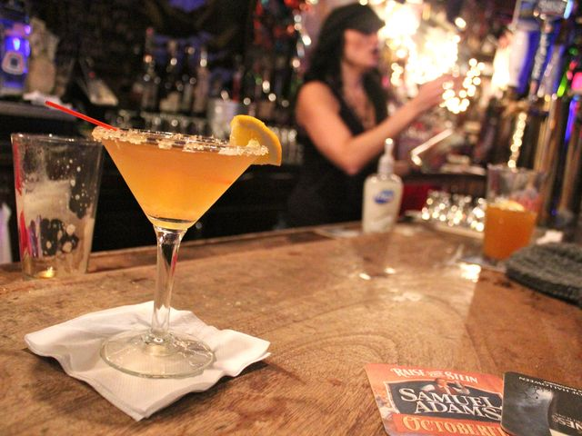 <p>A Golden Honey Martini is the drink suggestion at Raccoon Lodge for a night of drinking by the fire.</p>