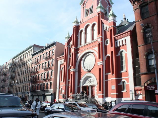 <p>Raphael Ward&#39;s funeral at Our Lady of Sorrows Church on Pitt Street on the Lower East Side.</p>
