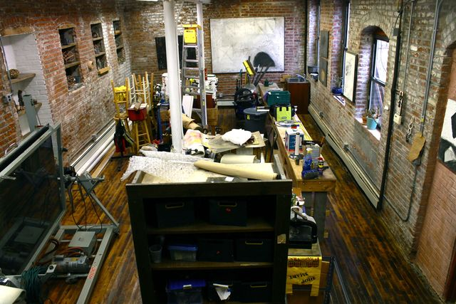 <p>Sheila Goloborotko&#39;s studio on Creamer Street was filled with 39 inches of flood water during Sandy.</p>