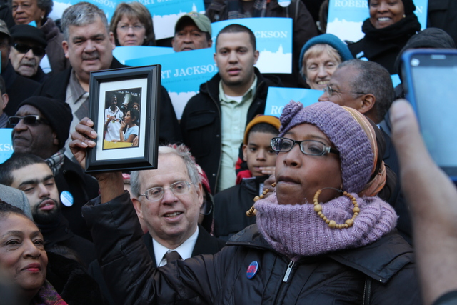 <p>Supporters praised City Councilman Robert Jackson&#39;s record on education as he officially launched his campaign for Manhattan Borough President on Jan. 27, 2013.</p>