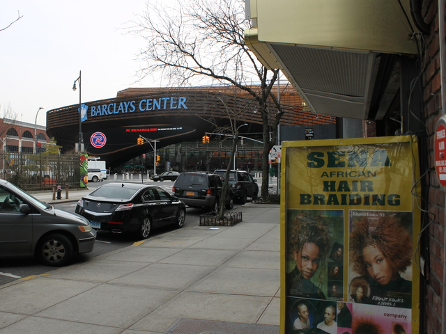 <p>Cops say this hair-braiding salon across the street from the Barclays Center was operating an illegal gambling business.</p>