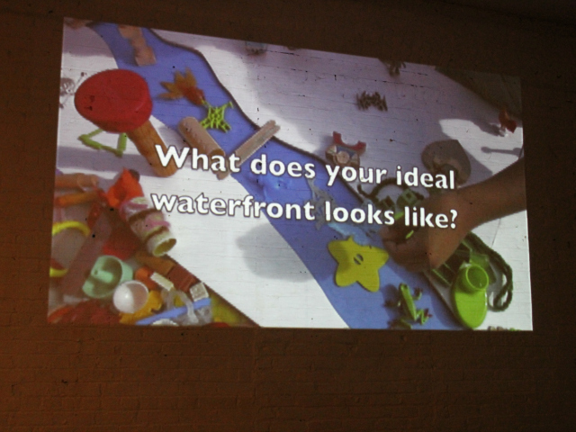 <p>An image from a video by local artists who asked residents about their wishes for the Bronx waterfront.</p>