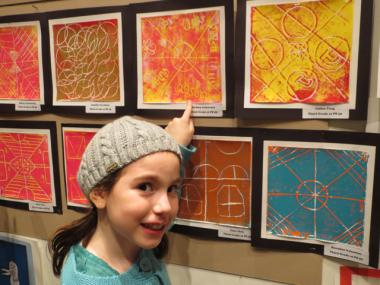 Over 300 children from East Side elementary schools displayed their art at Sotheby's on Wednesday evening. The famous auction house is located at 1334 York Ave.