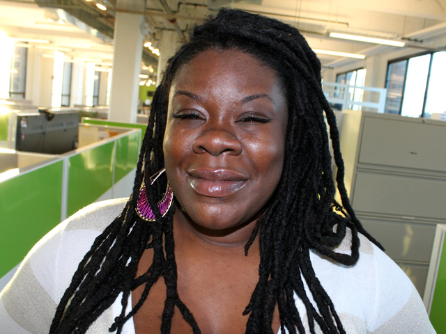 <p>Tanya Fields at her shared office space inside the BankNote building in Hunts Point. After the urban farmer and activist was disinivited from TEDxManhattan, she created a TEDx alternative in The Bronx.</p>