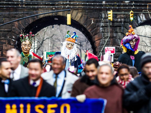 <p>The Three Kings Parade takes place in East Harlem on Jan. 4th, 2013.</p>
