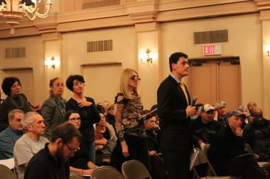 Homeless Services leaders heard testimony from residents angry about two new local homeless shelters.