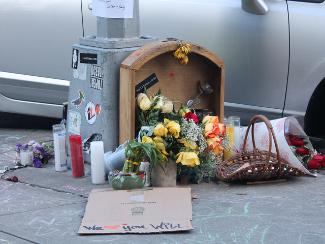 <p>A shrine has been set up in Alicea&#39;s memory on 218th Street and Indian Road.</p>