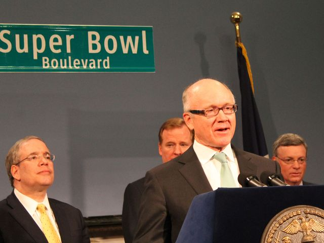 <p>Jets Owner Woody Johnson said the city will embrace whatever weather there is in the 2014 Super Bowl.</p>