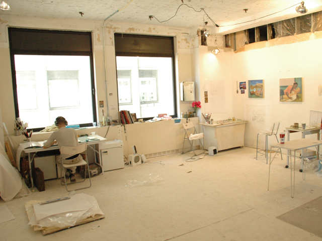 <p>2008-2009 <em>Workspace</em> artist-in-residence Aaron Gilbert&#39;s studio</p>