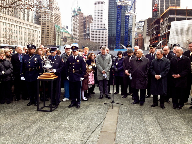 <p>The families of the six victims killed during 1993 World Trade Center bombing, along with Mayor Michael Bloomberg, former Mayor David Dinkins, and other officials gathered at the 9/11 Memorial to commemorate the tragic day.</p>