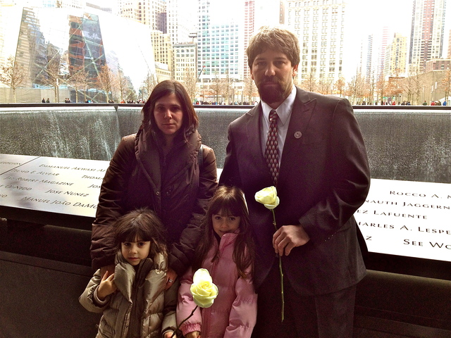 <p>Stephen Knapp, Jr., whose father was killed during the 1993 World Trade Center bombing, commemorated the tragic day with his wife Lisa and their two daughters at the 9/11 memorial. Knapp read his father&#39;s name, as well as two other victims&#39; names during the brief ceremony.</p>