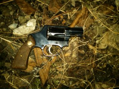 The .38 caliber revolver recovered after police shot a gun-wielding suspect in East New York Feb. 12, 2013.