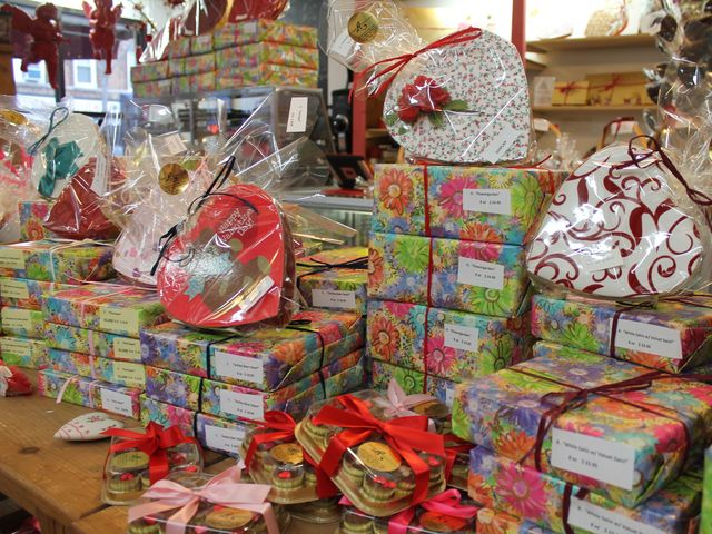 <p>Customers choose from a huge variety of products &mdash; from chocolate pops for $1.75 to some 50 kinds of heart-shaped boxes, the biggest weighing 5 pounds (150 pieces) and costing $200.</p>