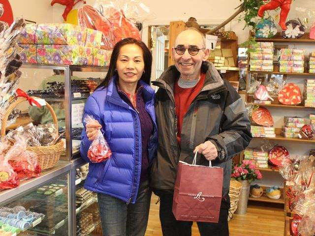 <p>Albert Loria and his wife Lilly visit the store every couple of weeks.</p>