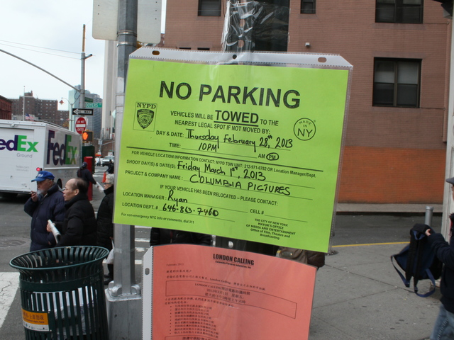 <p>Filming for the Amazing Spider-Man 2 will shut down much of Doyers Street on Friday.</p>