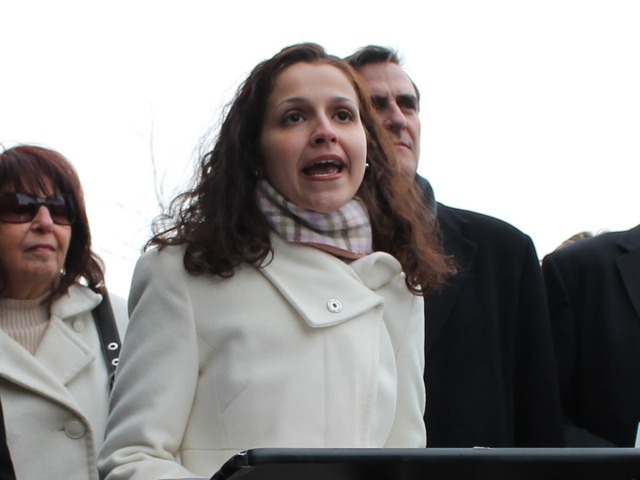 <p>Astoria Assemblywoman Aravella Simotas at a press conference in January 2013. The Queens lawmaker is pushing to pass a bill that would broaden the state&#39;s definition of a rape charge beyond it&#39;s current interpretation, which requires vaginal penetration.</p>