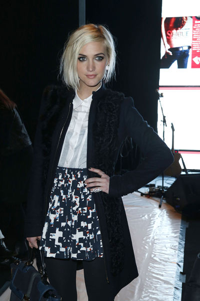 <p>Ashley Simpson at the Rebecca Minkoff show at Lincoln Center, Friday, Feb. 8, 2013.</p>