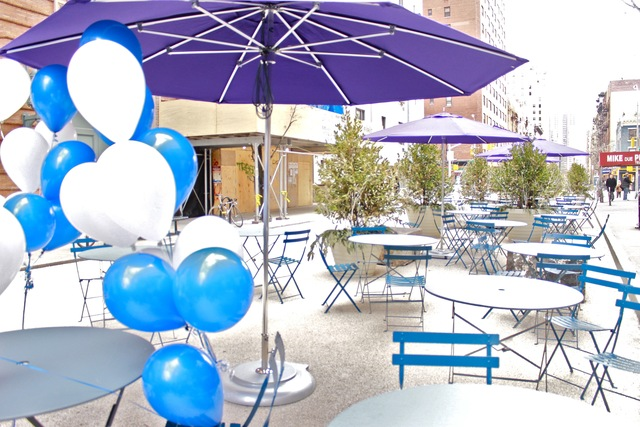 <p>Over the next two to three years, the school will be working to transform the interim plaza into a permanent one, said Mitchel Wallerstein, president of Baruch College.</p>