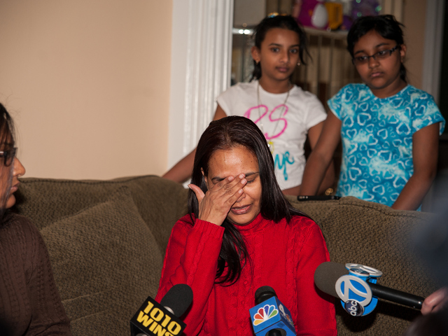 <p>46yr old Bibi Ali cries as she recounts stories of her deceased daughter Marisha Cheong on Monday February 18th, 2013.</p>