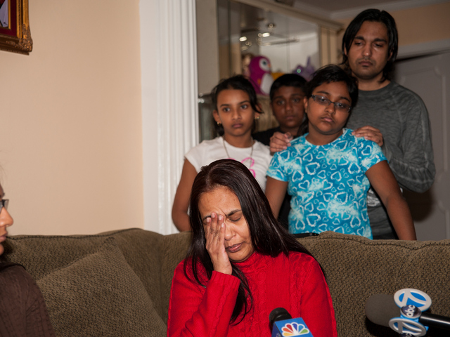 <p>46yr old Bibi Ali breaks down as family members watch on Monday February 18th, 2013.</p>