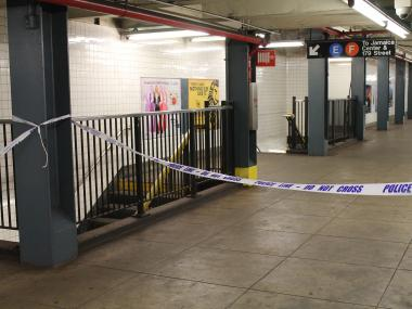 A man was killed by an F train at the Briarwood/Van Wyck stop on the F line Thursday.