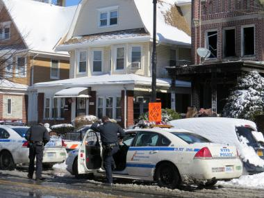 A fire devestated a Bedford Avenue apartment in Brooklyn early Saturday morning.
